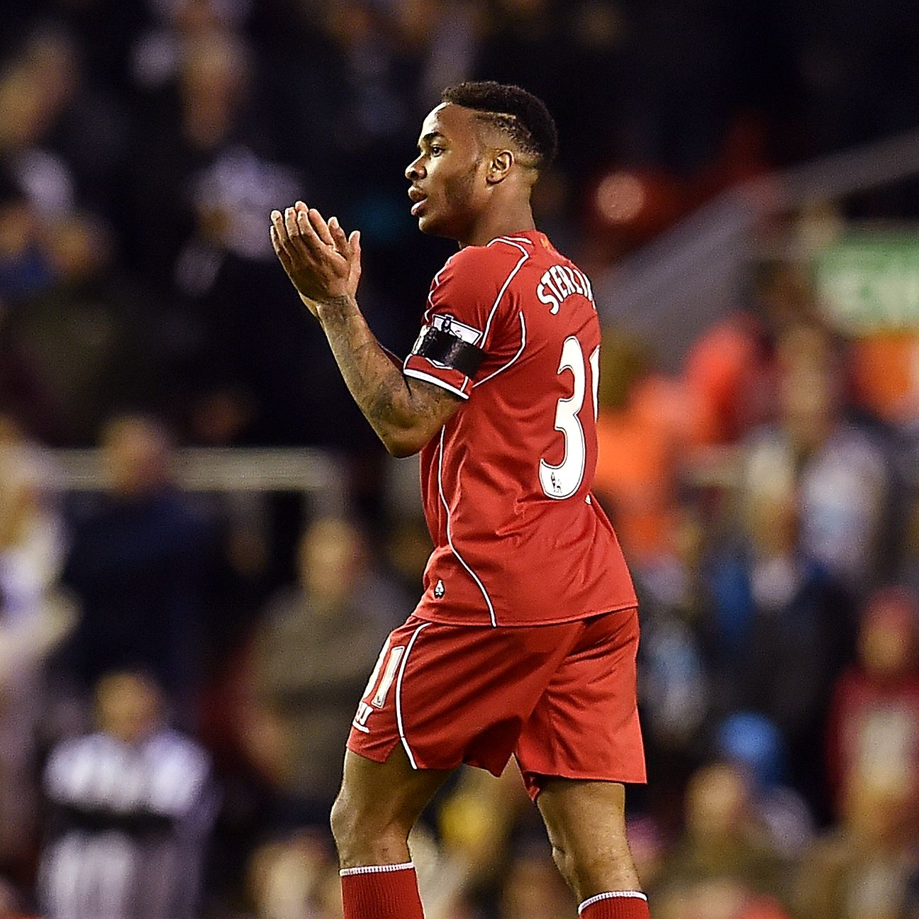 Sterling was warmly applauded upon leaving the pitch in Liverpool's home victory on Monday.