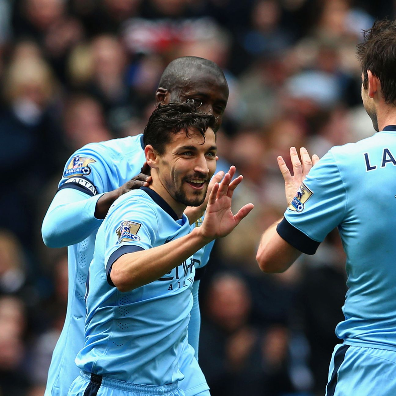 Jesus Navas had a big hand in both Manchester City scores.