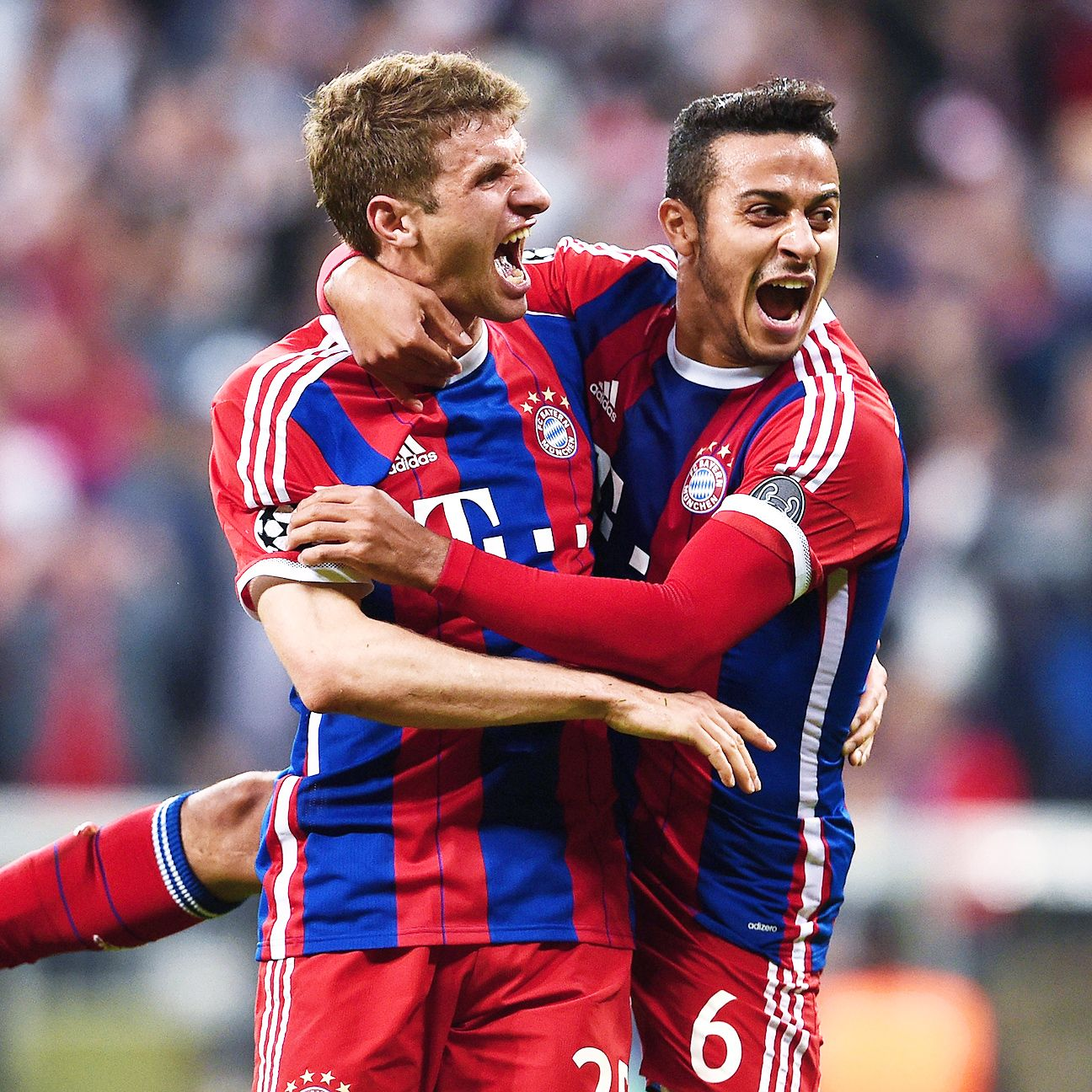 Thomas Muller and Thiago helped Bayern reach a fourth straight Champions League semifinal.