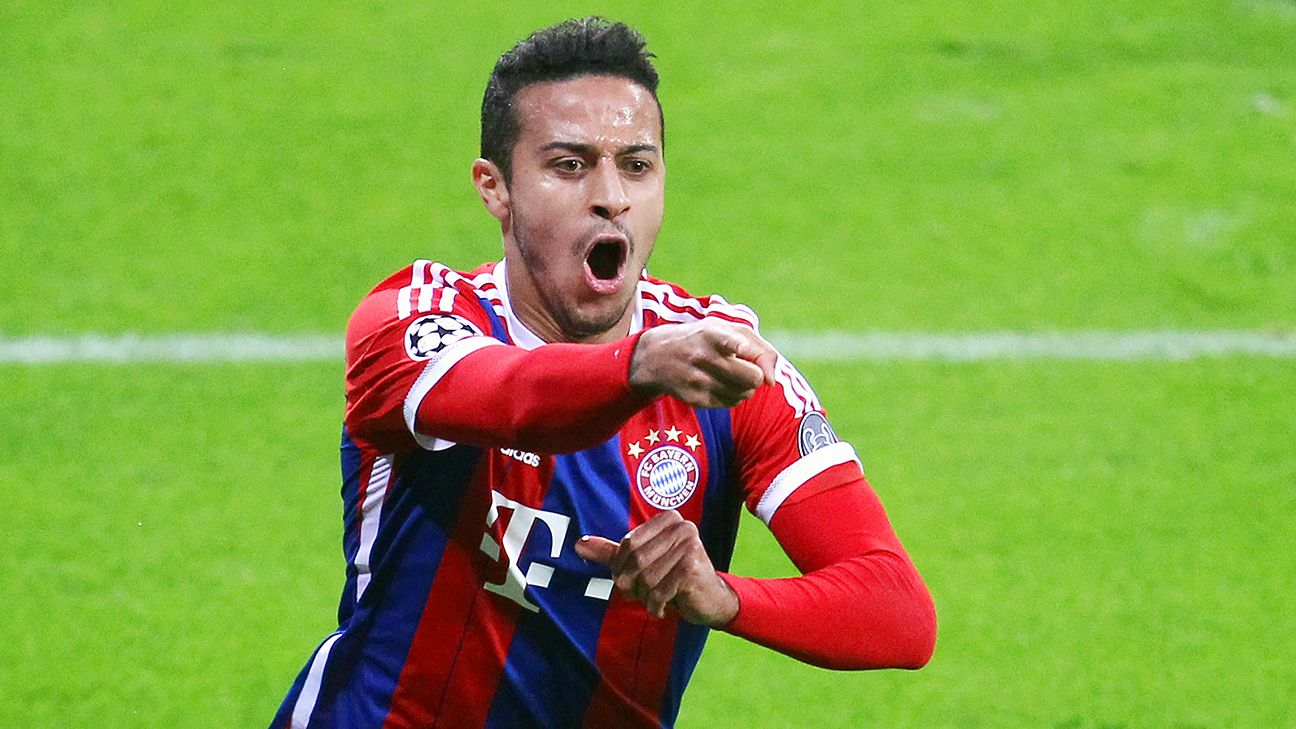 Thiago opened the scoring and created two other goals to help complete Bayern's comeback.
