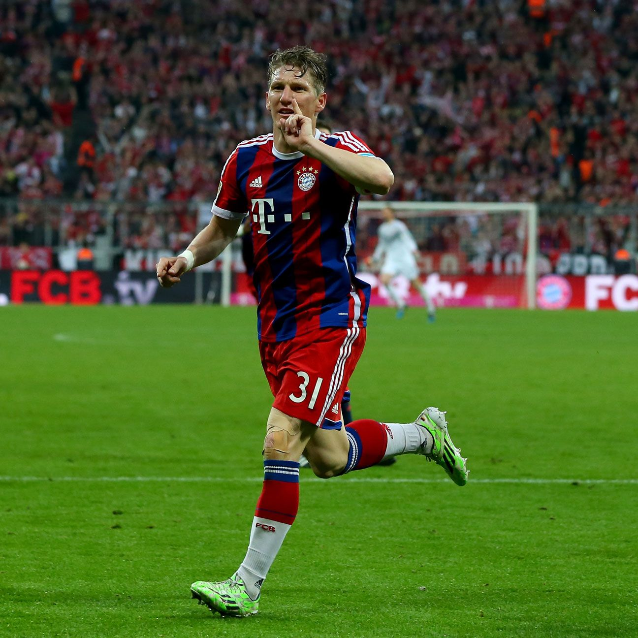 Bastian Schweinsteiger's goal put Bayern on the cusp of clinching another Bundesliga title.