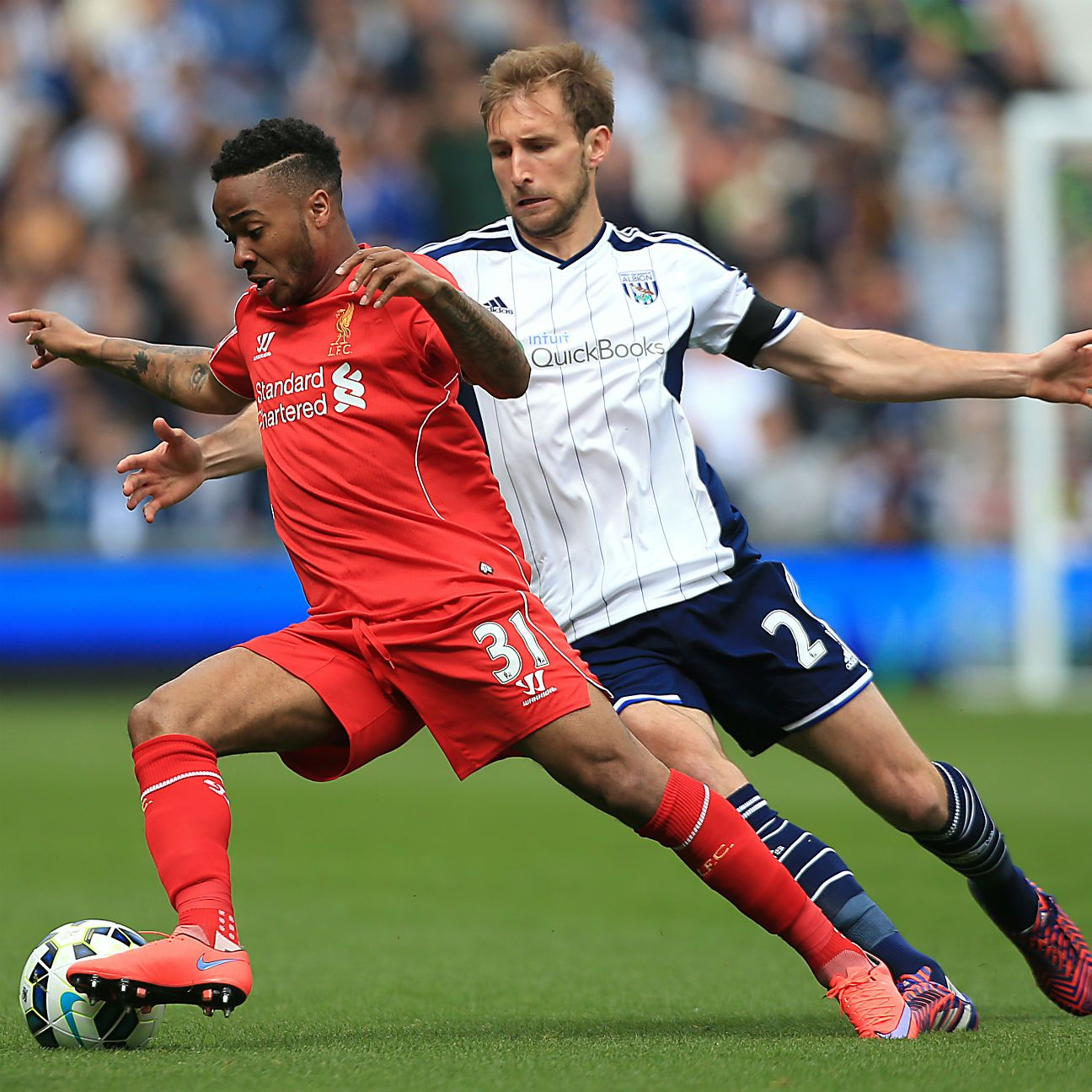 Raheem Sterling was a non-factor in attack for Liverpool.