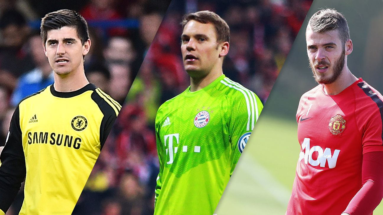 Where do Thibaut Courtois, Manuel Neuer and David de Gea rank among the world's best goalkeepers?