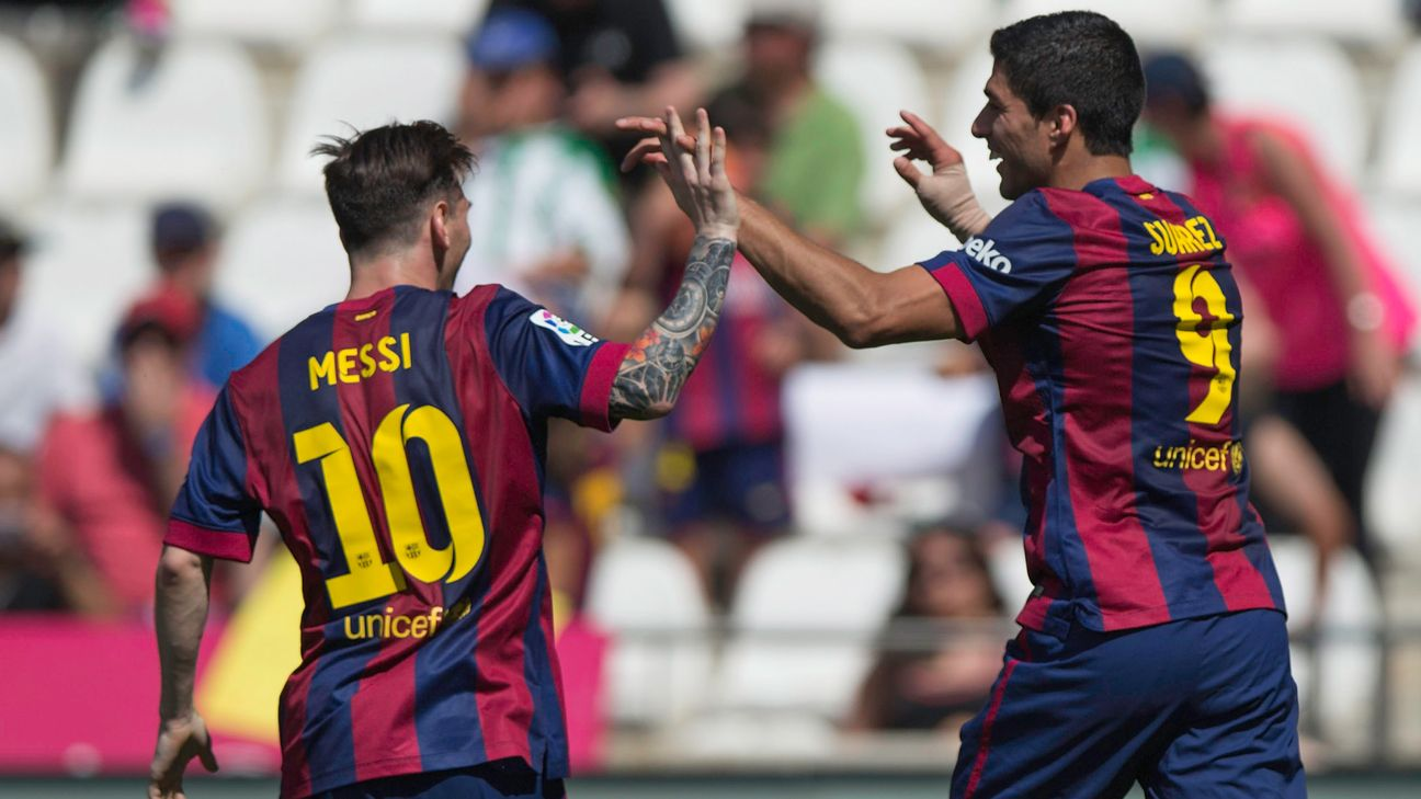 Suarez and Messi team up to smash Cordoba