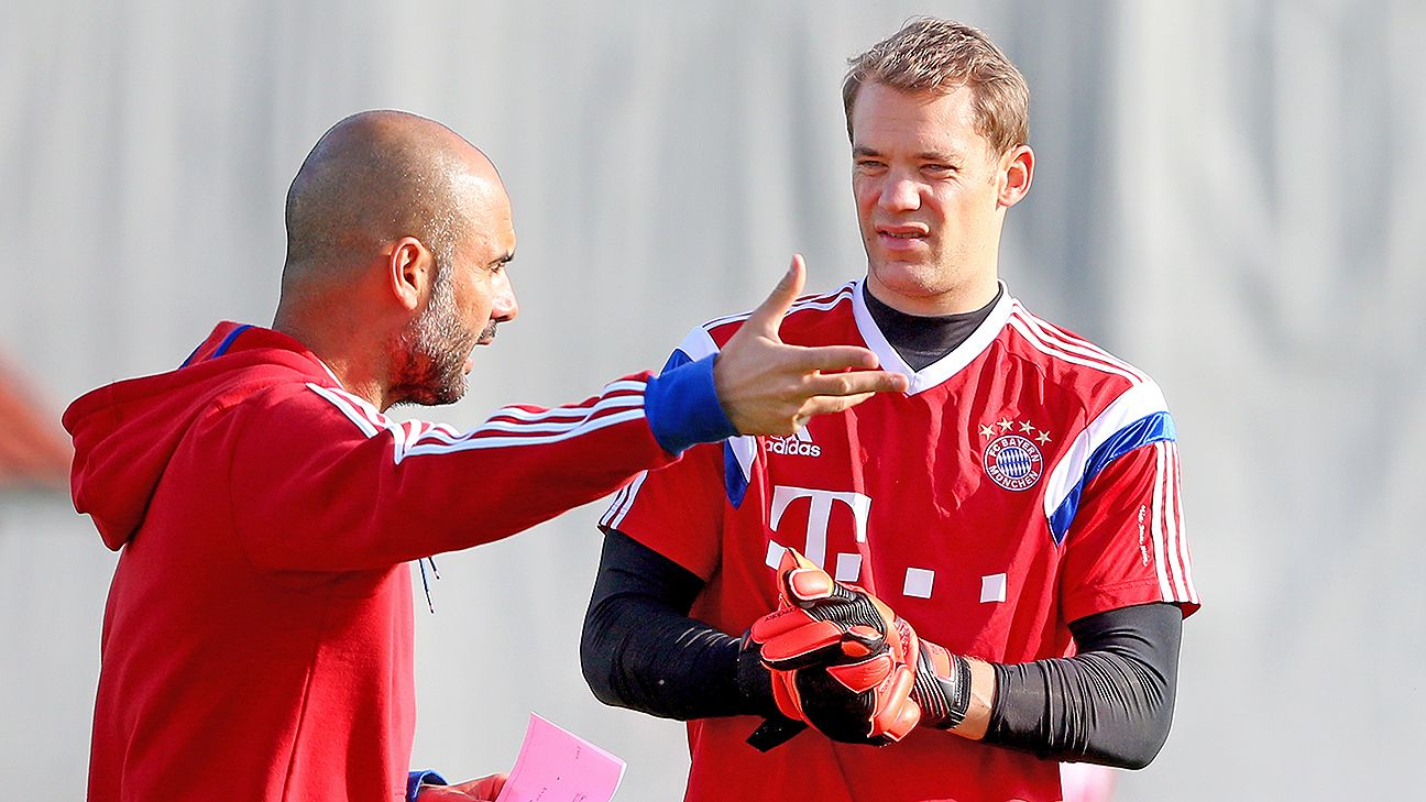 Under Guardiola, Manuel Neuer has become more central to Bayern's possession-based football.