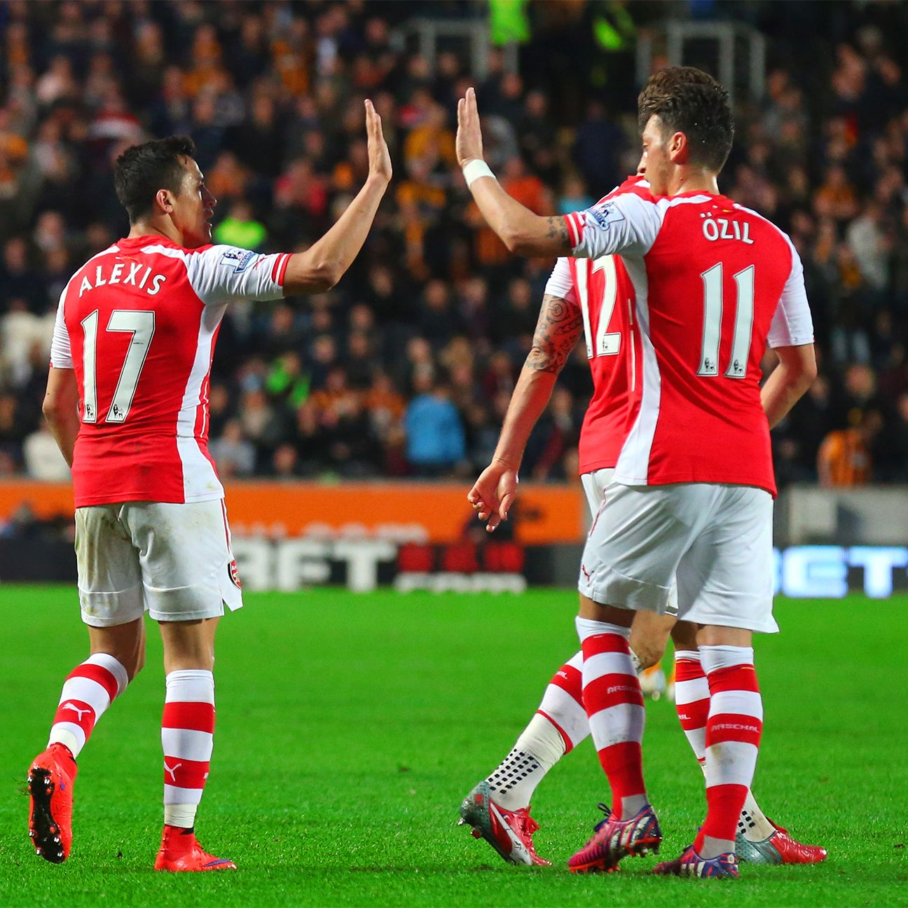 Arsenal supporters will hope to see Alexis Sanchez and Mesut Ozil celebrating many an Arsenal goal for years to come.