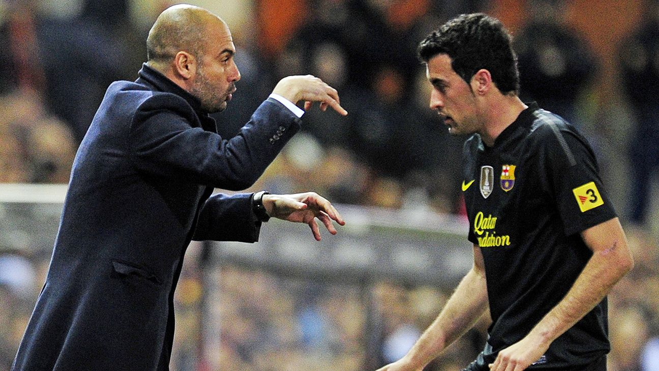Sergio Busquets is one of many La Masia graduates to have earned a Barcelona senior team debut under former manager Pep Guardiola.