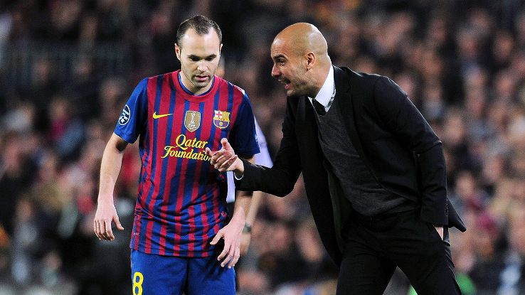 Image result for iniesta with guardiola