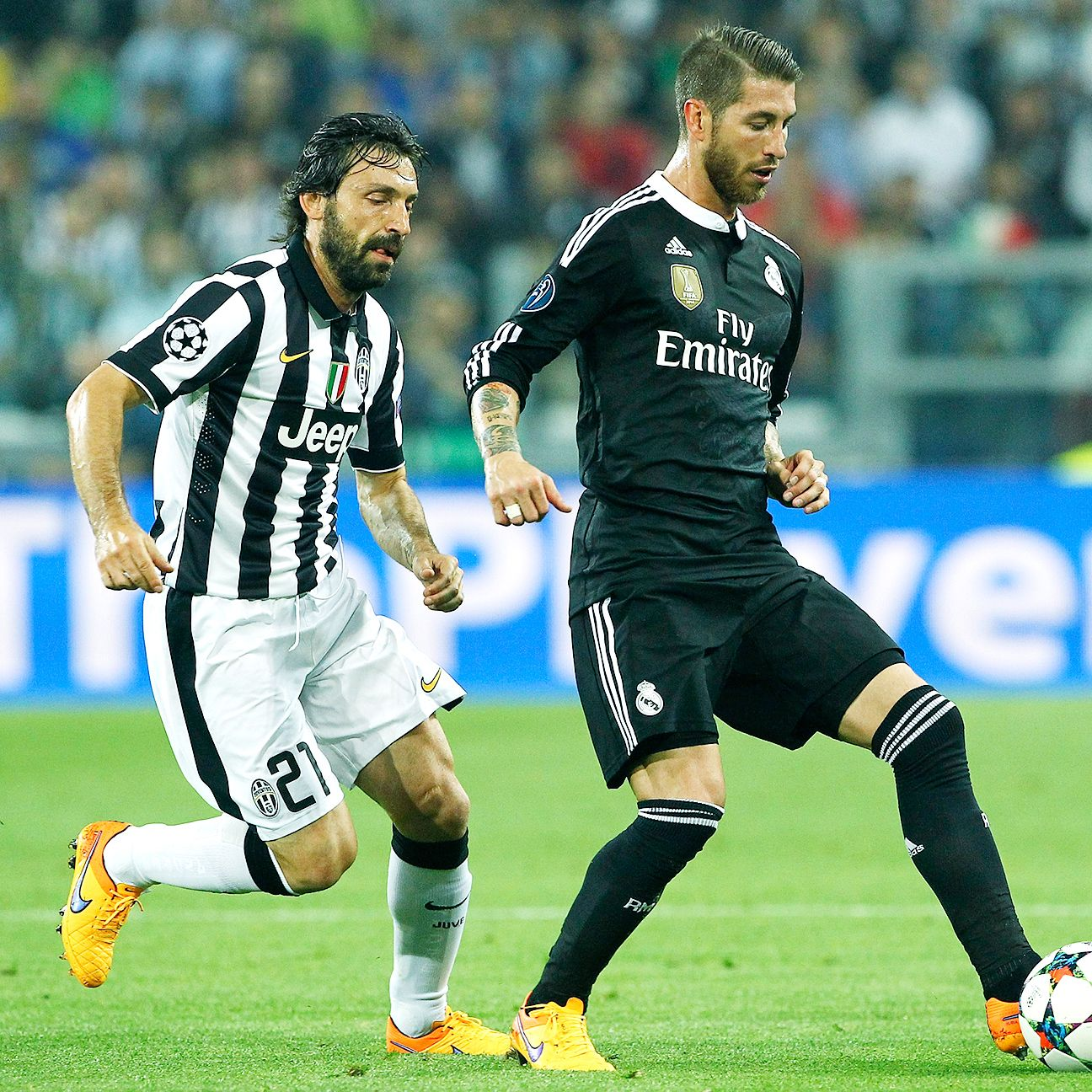Sergio Ramos was never comfortable over the ball playing in Real's midfield on Tuesday.