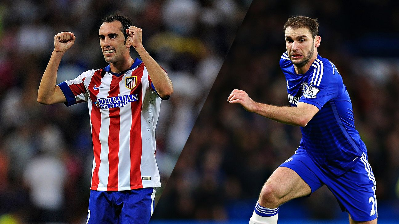 Atletico's Diego Godin is one of the top center-backs while Chelsea's Branislav Ivanovic is one of the best full-backs.