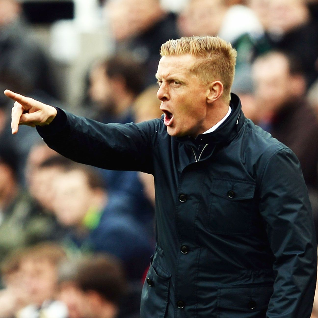 Garry Monk won just 28 of 77 matches as manager of Swansea.