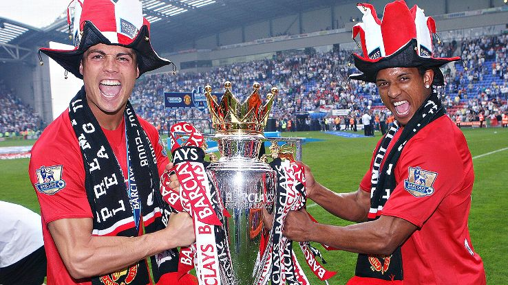 Cristiano Ronaldo and Nani helped form a dominating Manchester United team that reigned in both England and Europe in 2007-08.