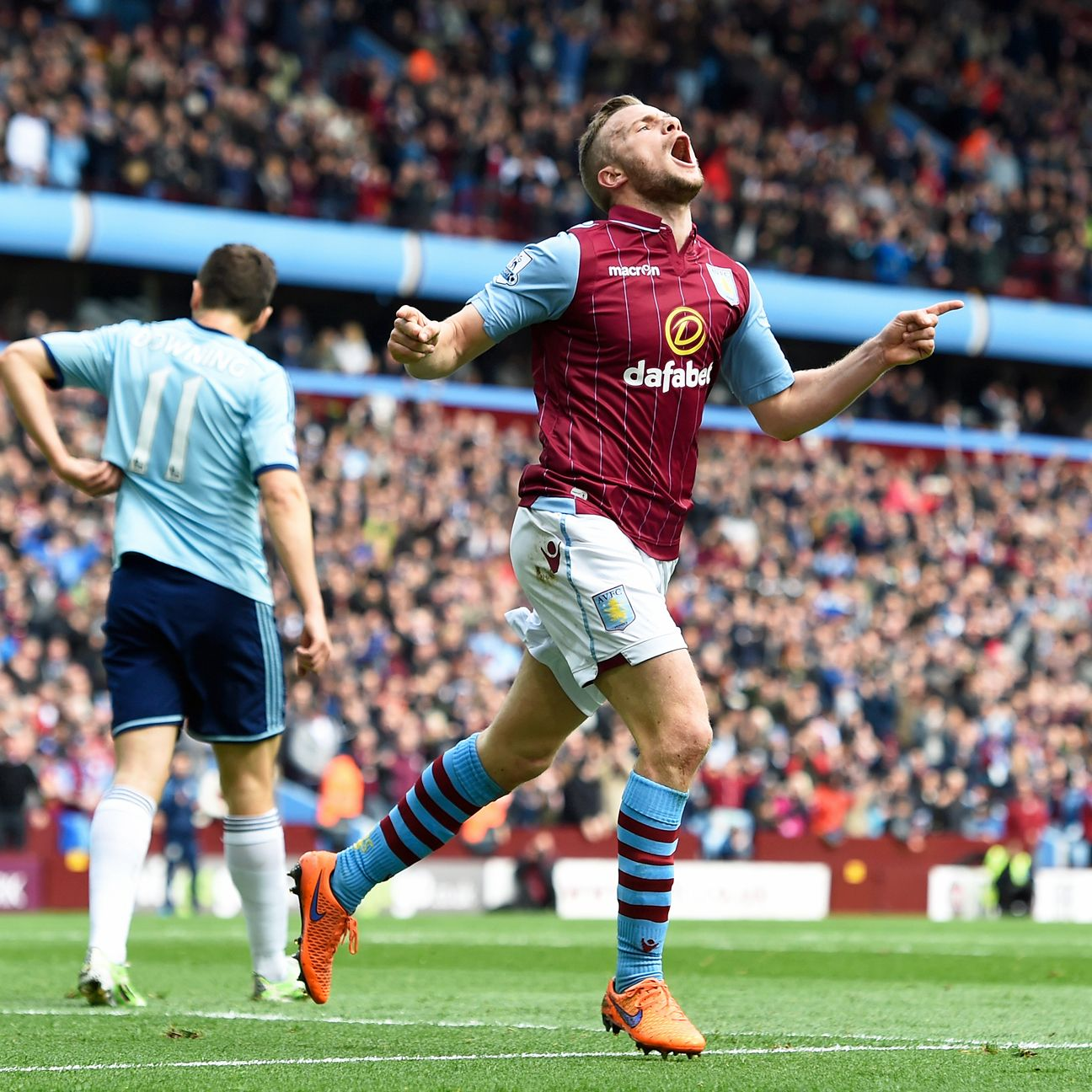 Tom Cleverley started 31 Premier League matches for Aston Villa in 2014-15.