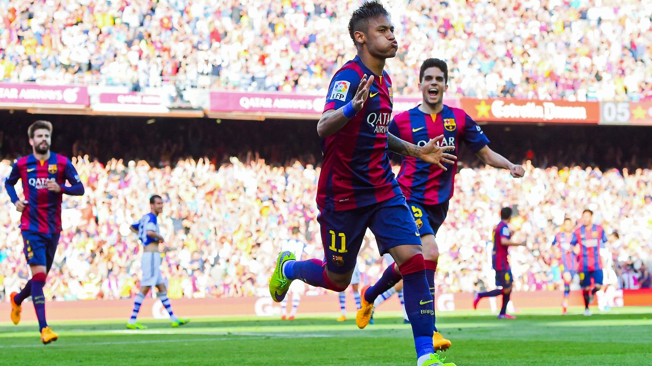 Neymar helped quell any worries of dropped points at the Camp Nou with his second half goal.