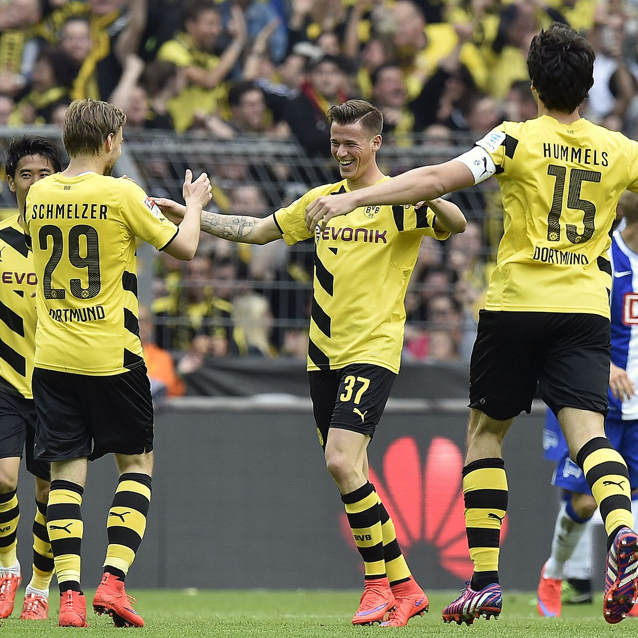Borussia Dortmund are unbeaten in their last four Bundesliga matches after Saturday's 2-0 win over Hertha Berlin.