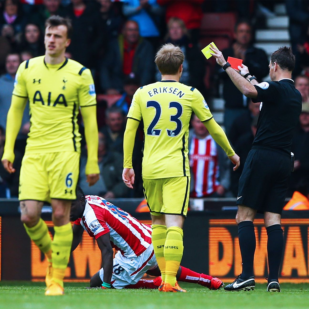 Vlad Chiriches' sending-off capped a miserable day for Spurs.