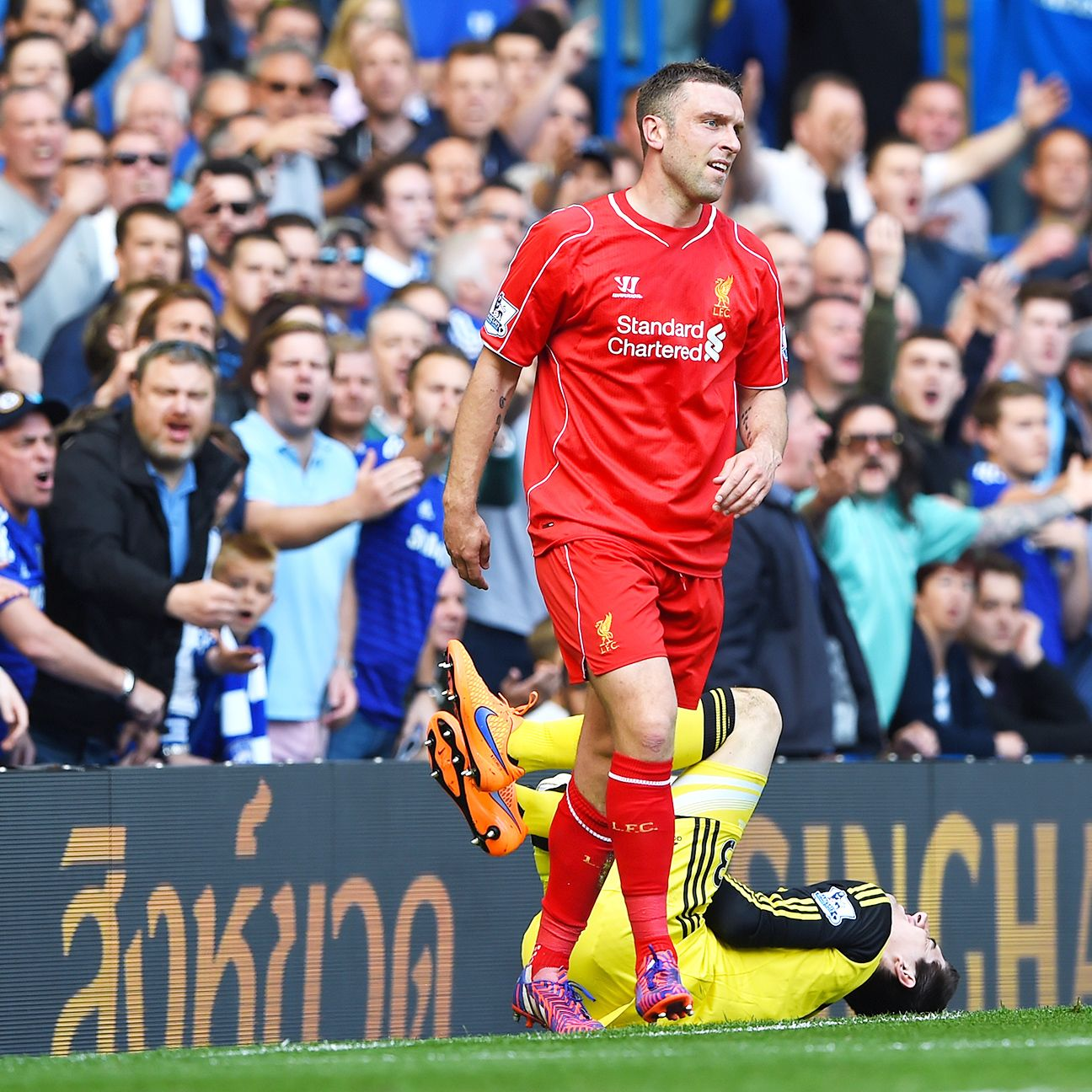 Rickie Lambert scored just two goals in 18 Premier League matches for Liverpool in 2014-15.