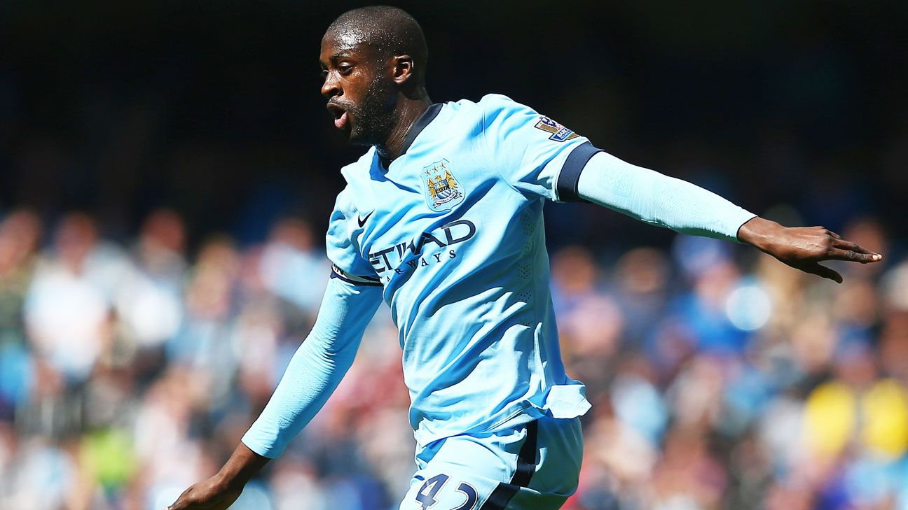 Yaya Toure has just five goals in 23 Premier League appearances this season for Manchester City.