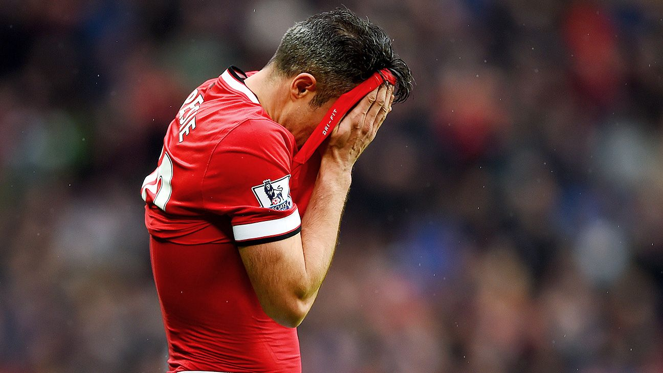 Injuries and a lack of form have limited Robin van Persie to just 10 goals in 2014-15.