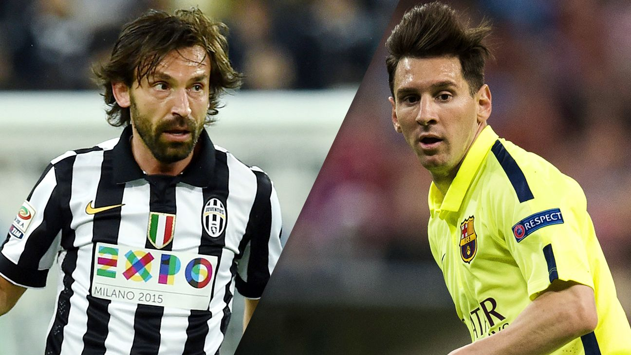 Will Andrea Pirlo and Juventus or Lionel Messi and Barcelona claim the Champions League title?
