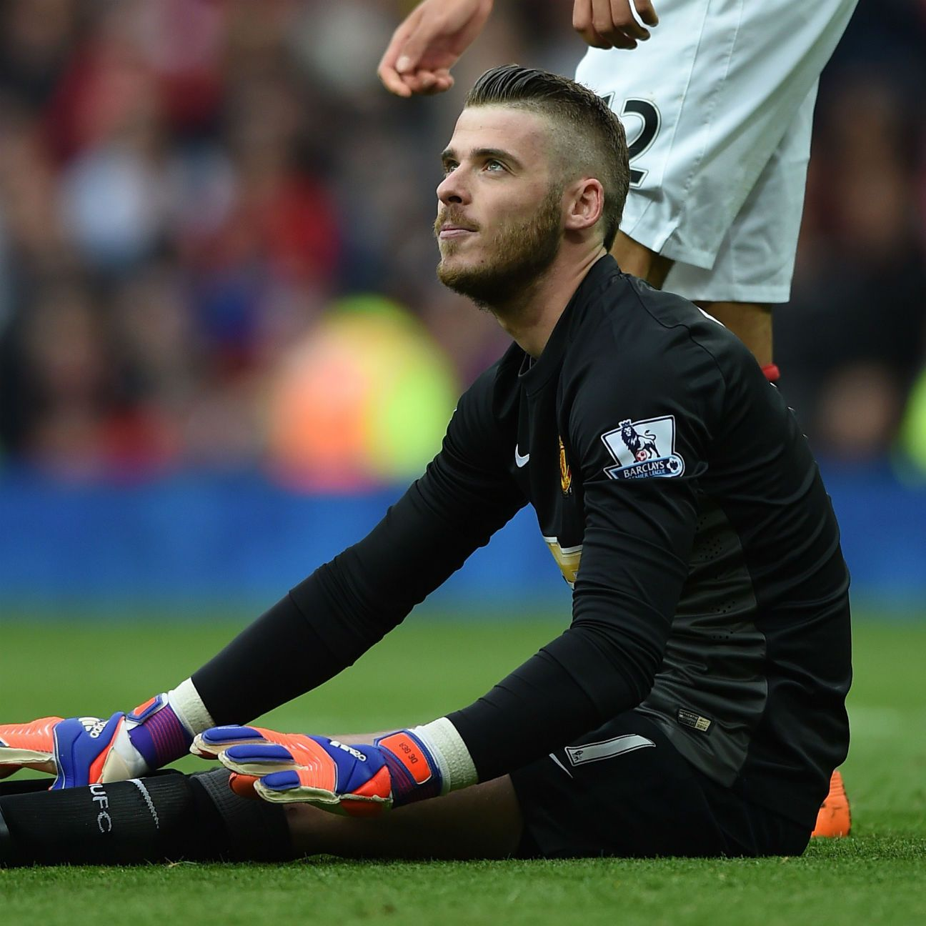 Before leaving with an injury, David De Gea was at his usual best in the United net.