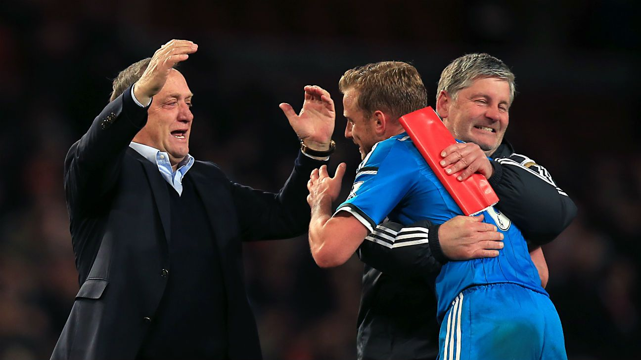 Against many odds, manager Dick Advocaat, left, has managed to keep Sunderland in the Premier League for another season.