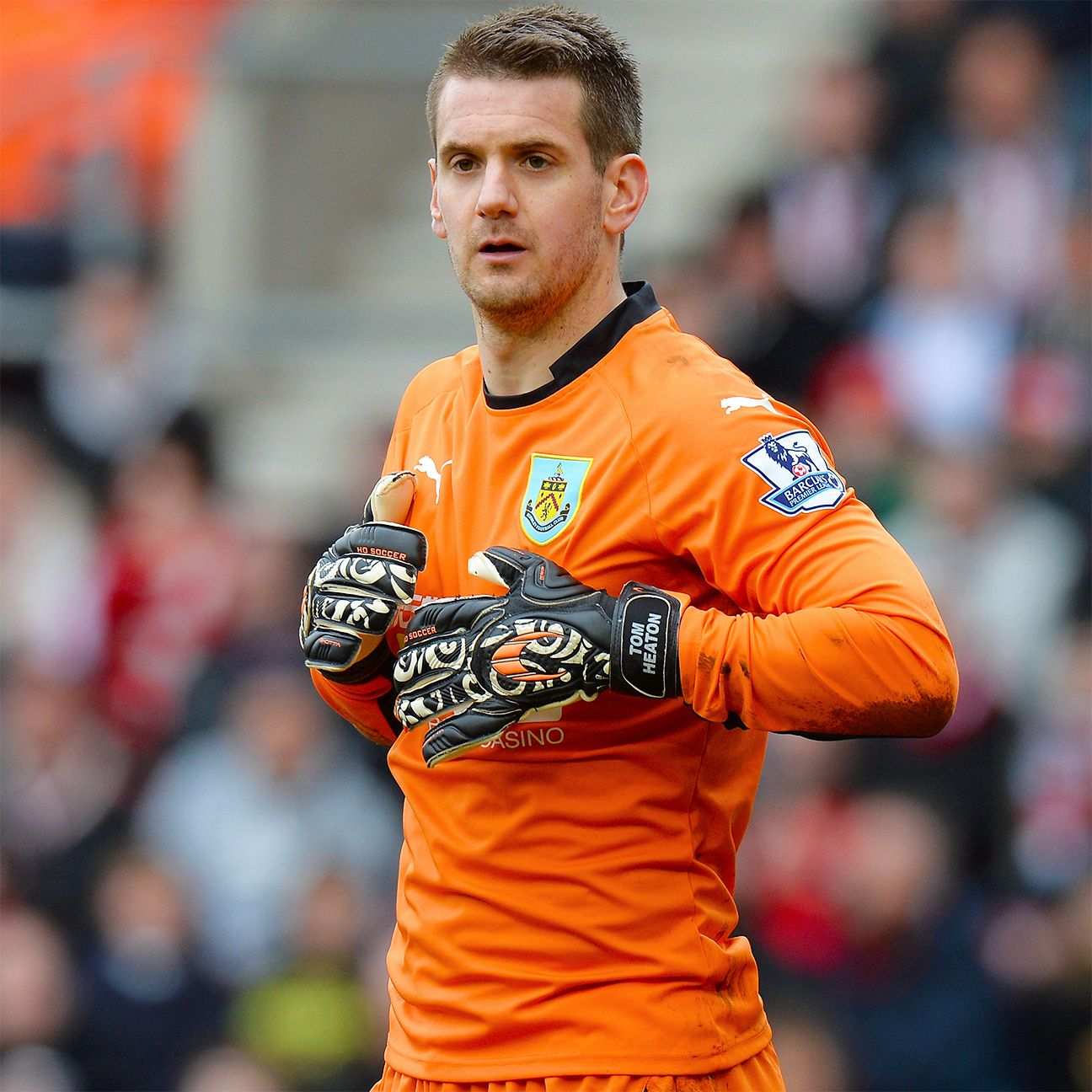 Goalkeeper Tom Heaton has started every Premier League match for Burnley in 2014-15.