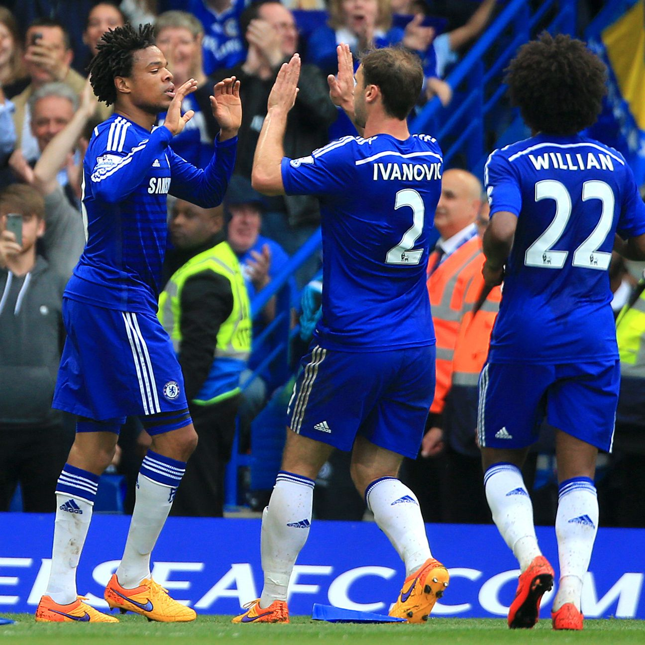 There were celebrations all around at Stamford Bridge on Sunday in another Chelsea victory to cap 2014-15.