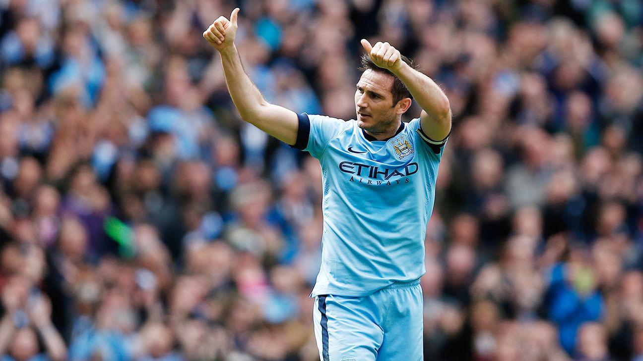 Frank Lampard scored his sixth Premier League goal of the season in City's 2-0 win.