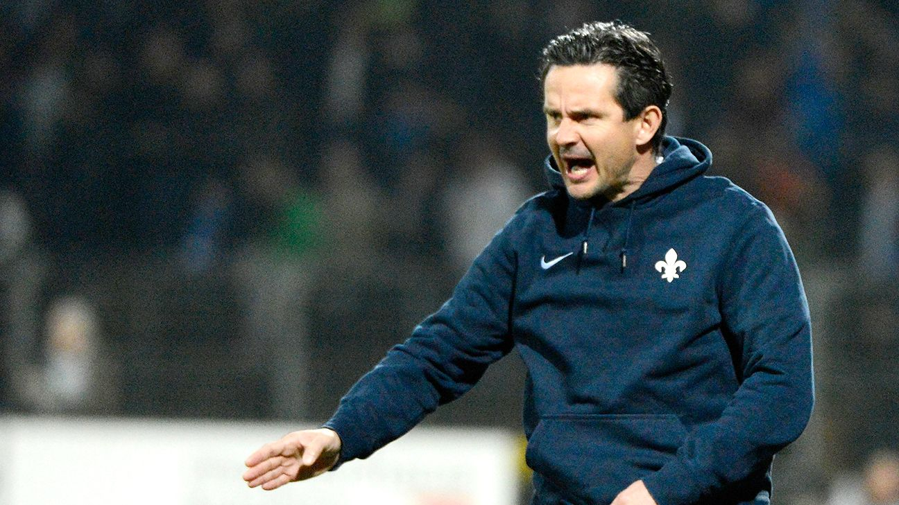 Manager Dirk Schuster took the reins of Darmstadt back when they were in Germany's third division.