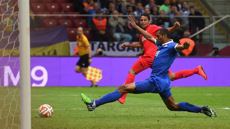 With his brace in the final, Carlos Bacca netted seven goals in the 2014-15 Europa League.