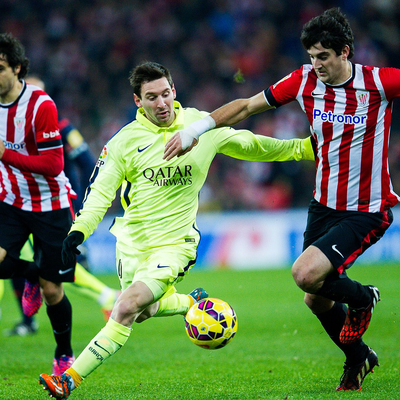 Lionel Messi and Barcelona dominated Athletic Bilbao in their two league meetings in 2014-15, winning 2-0 and 5-2.