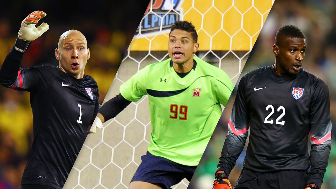 Brad Guzan, Zack Steffen and Bill Hamid are at various levels of the U.S. goalkeeper pipeline.