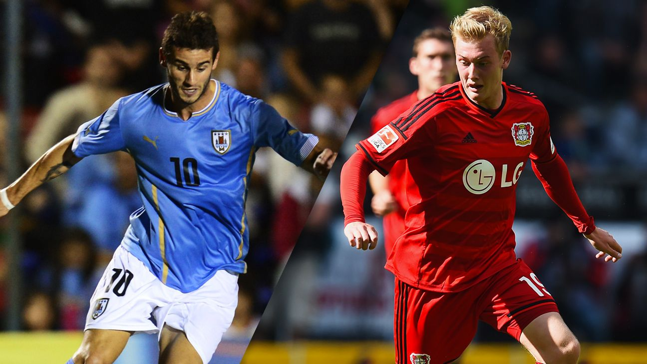 Uruguay's Gaston Pereiro and Germany's Julian Brandt are two of the top prospects at the Under-20 World Cup.