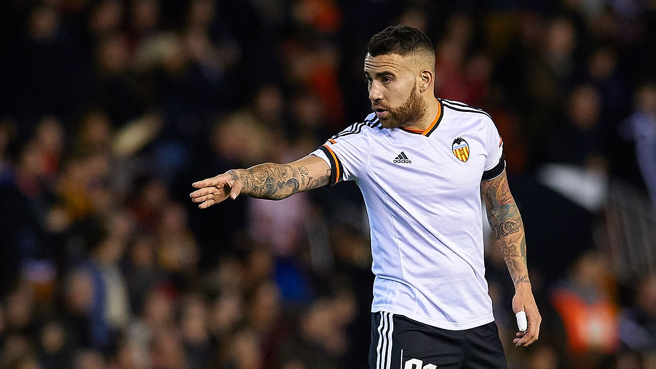 United target Argentine Nicolas Otamendi appeared in 35 La Liga matches for Valencia in 2014-15.