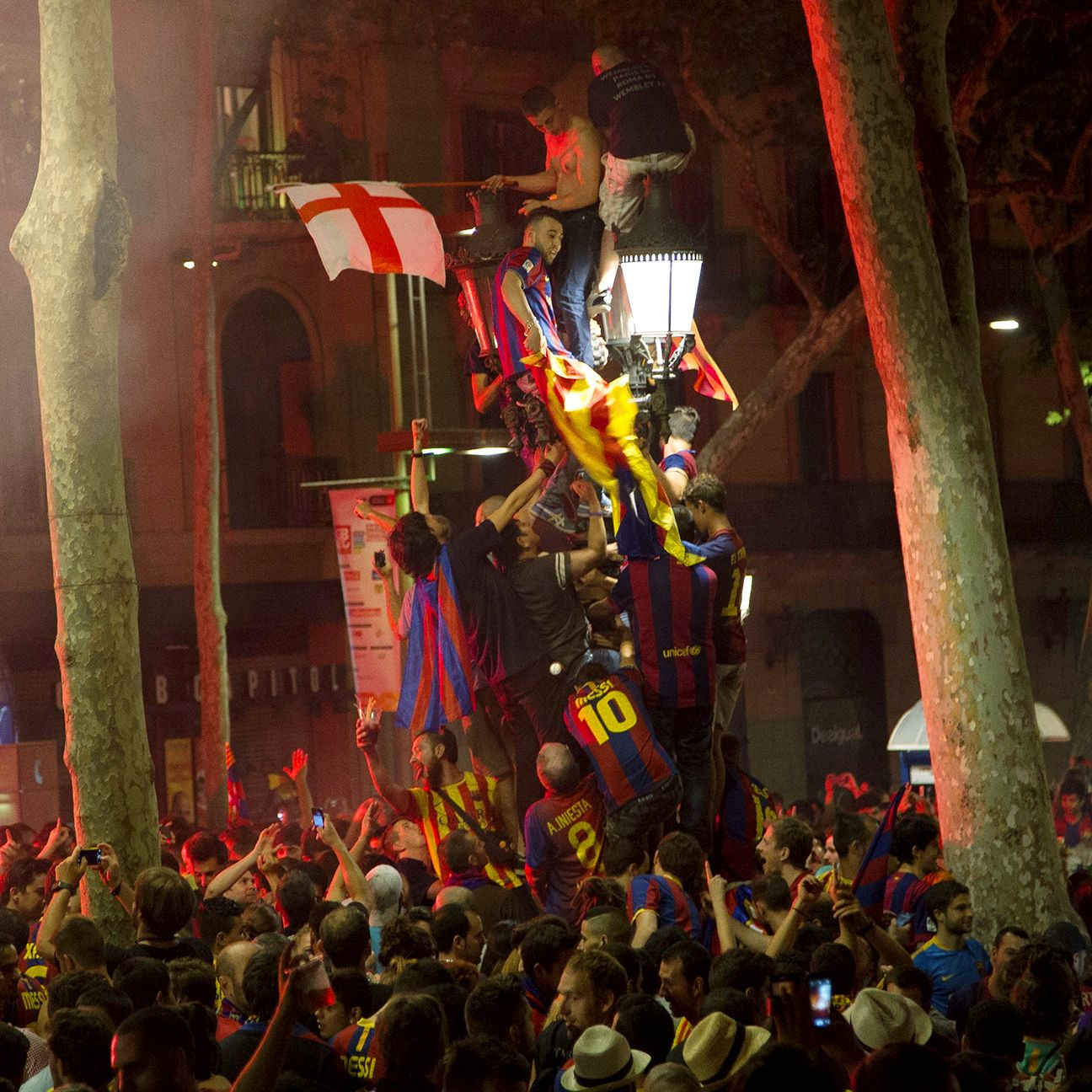 The streets of Barcelona were a sea of Blaugrana following Saturday's Champions League final triumph.