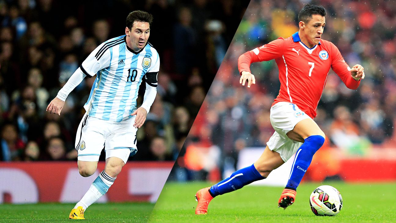 Lionel Messi's Argentina and Alexis Sanchez's Chile are favorites to finish at the top of their respective groups.