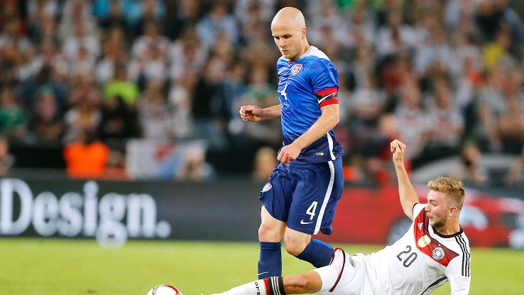 Michael Bradley was once again a driving force in the U.S. midfield against the Germans.