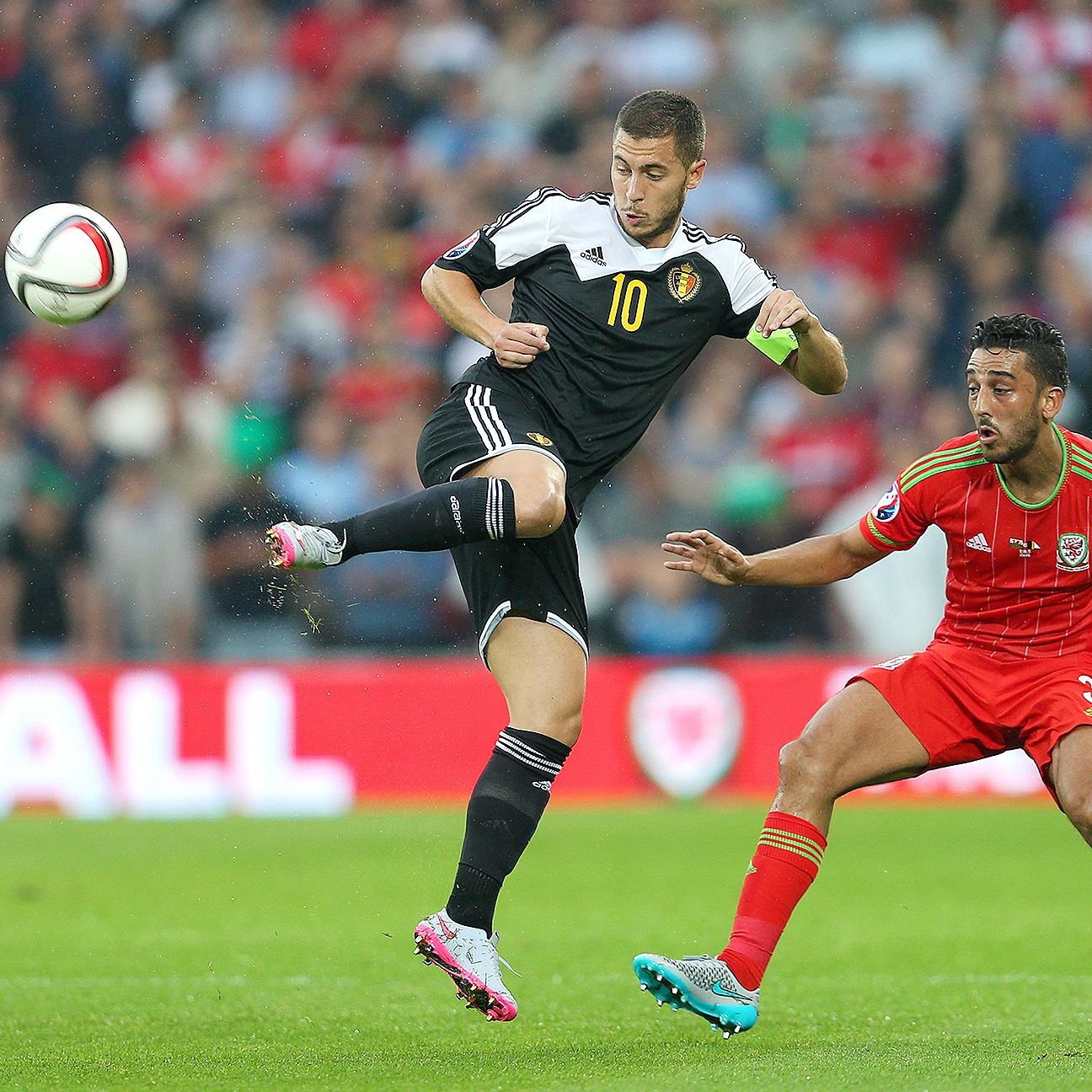 Despite all their firepower, Eden Hazard and Belgium were unable to breach the sturdy Welsh defence.