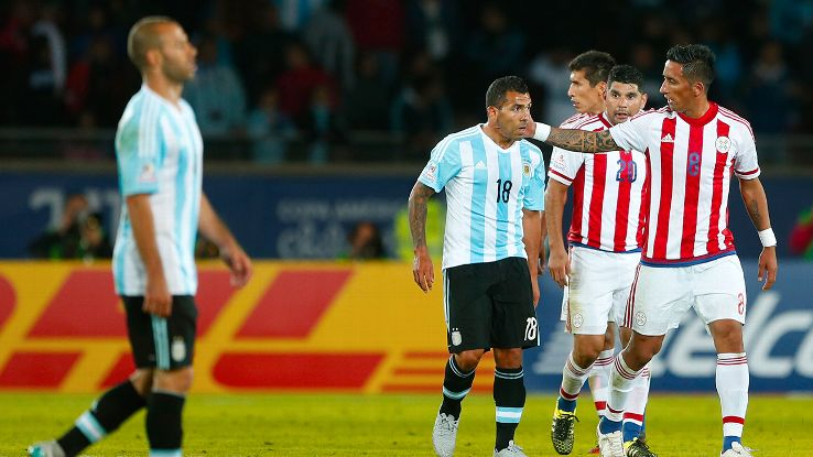 Argentina were left stunned by Paraguay's furious second-half comeback in Saturday's 2-2 draw.