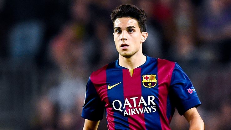Centre-back Marc Bartra made 24 total appearances for Barcelona in 2014-15.