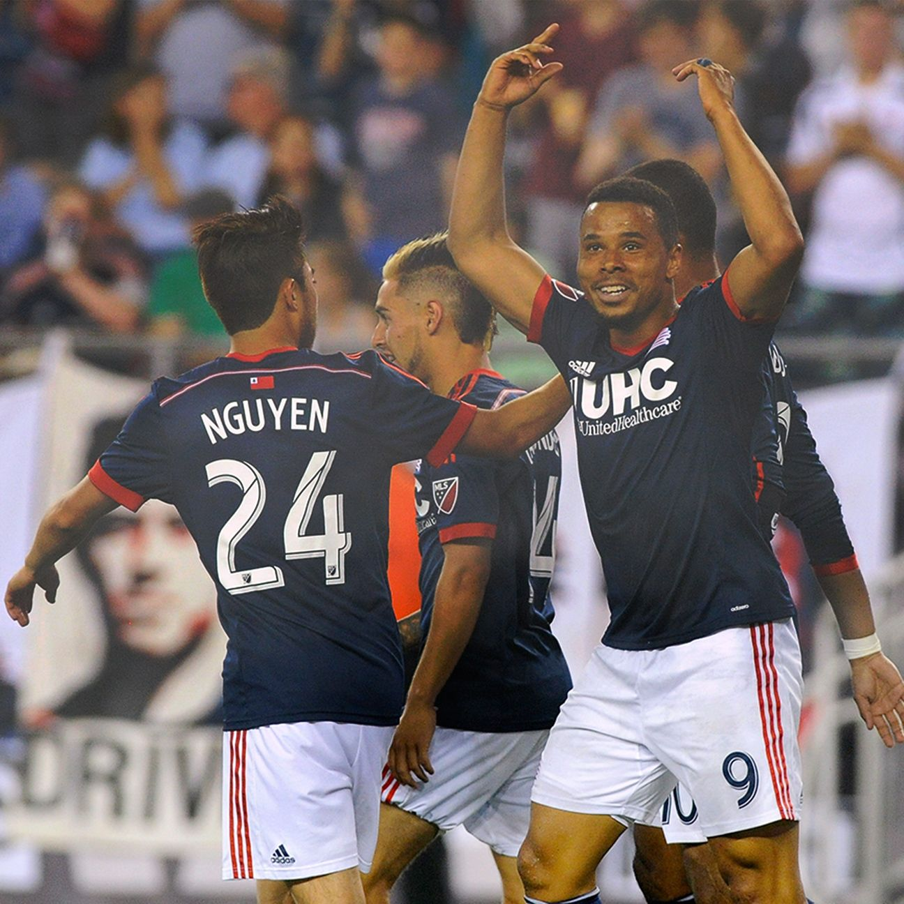Charlie Davies' goal in the 50th minute Saturday put New England up 2-0.