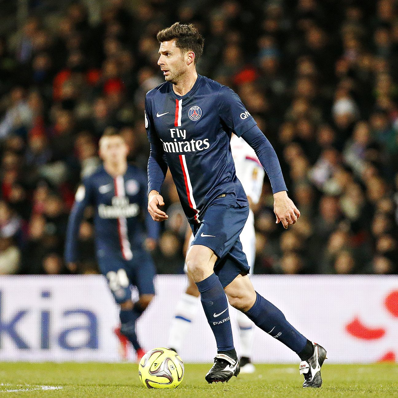 Thiago Motta appeared in 27 Ligue 1 matches for PSG in 2014-15.