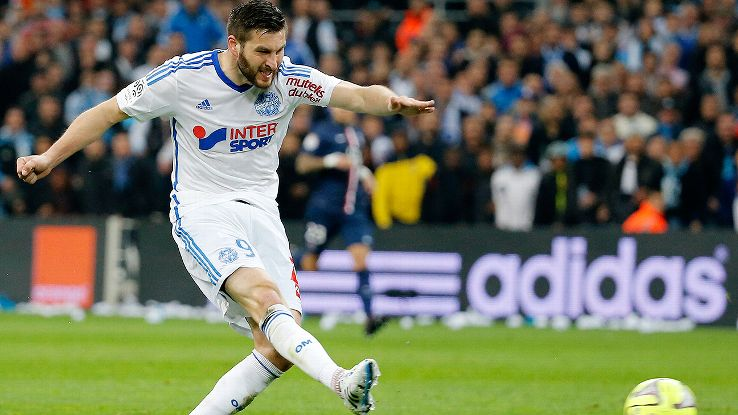 New Tigres arrival Andre-Pierre Gignac collected six braces during his superb 2014-15 season at Marseille.