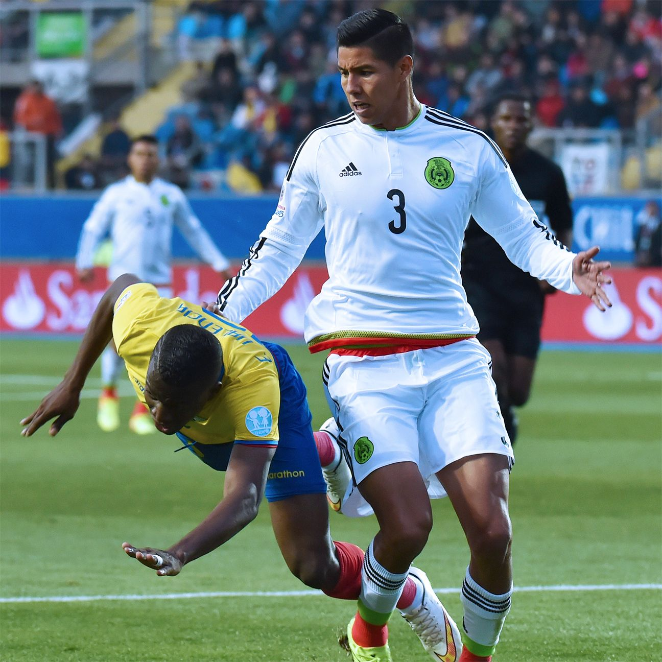 Hugo Ayala struggled mightily in defense for Mexico against Ecuador.