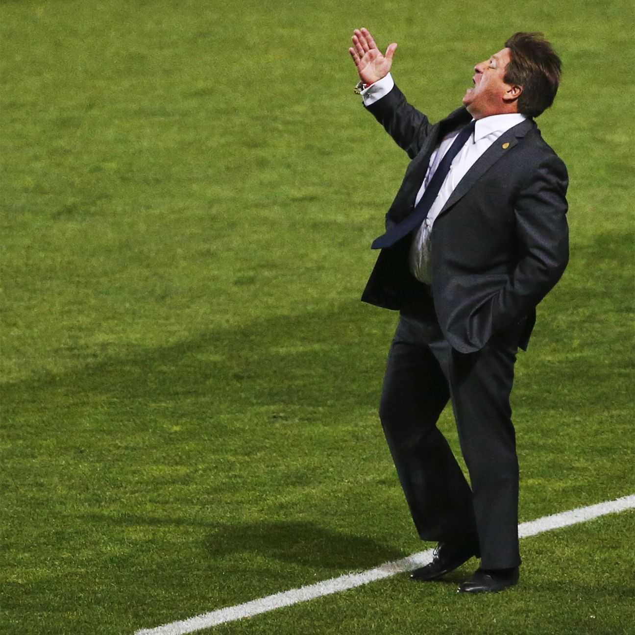 Mexico head coach Miguel Herrera was sent off during his team's Copa America finale.