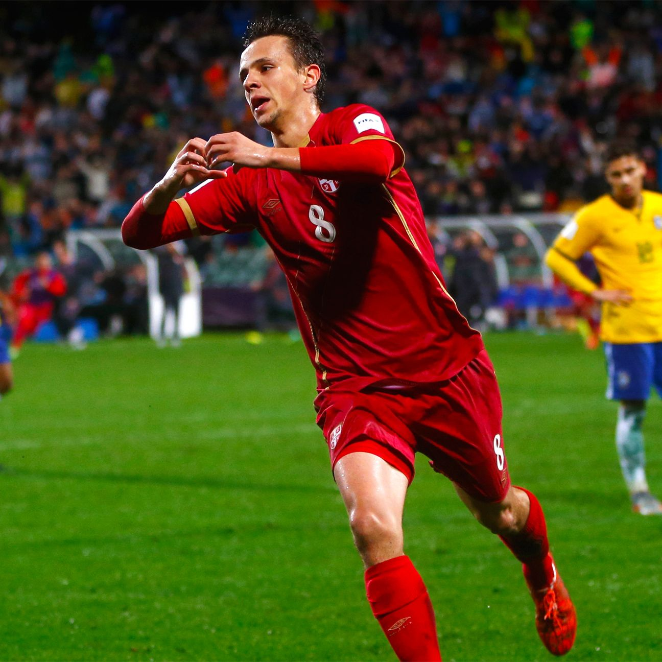 Nemanja Maksimovic of Kazakh side FC Astana scored the extra-time winner for Serbia against Brazil.