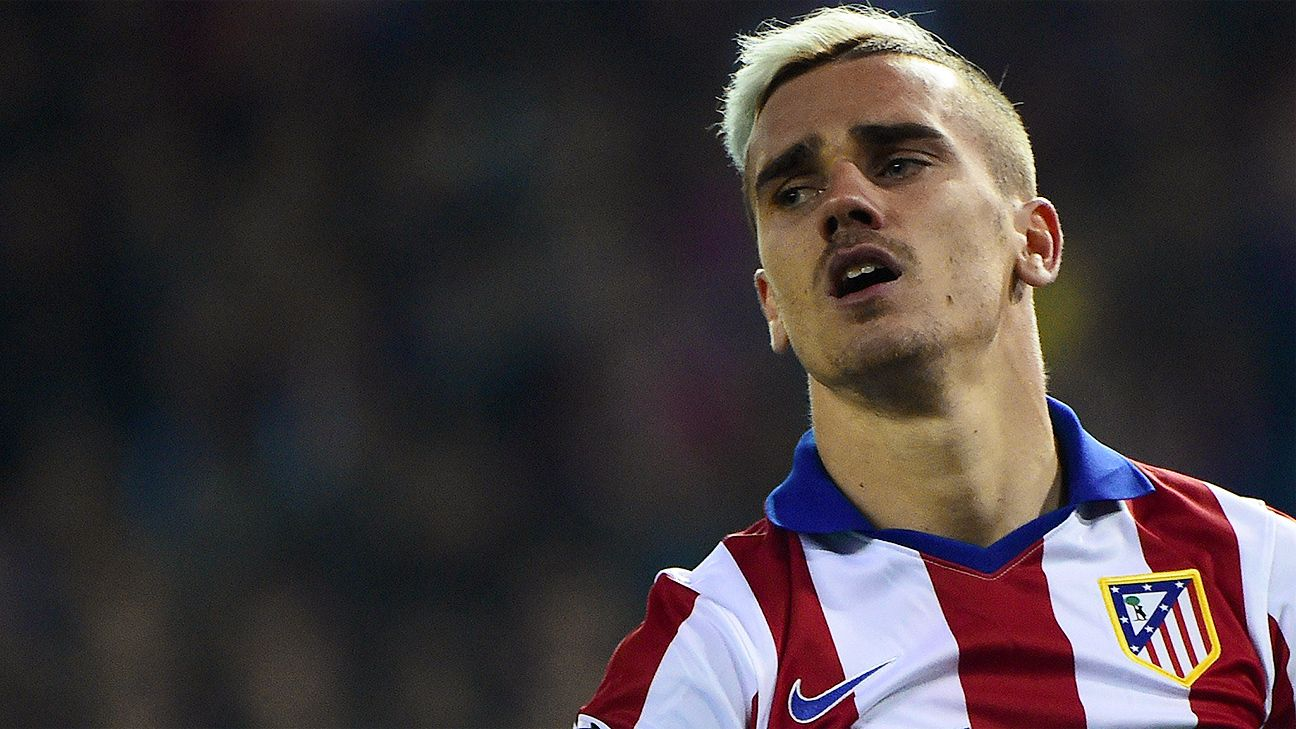 Antoine griezmann has failed to score in atletico s last three matches