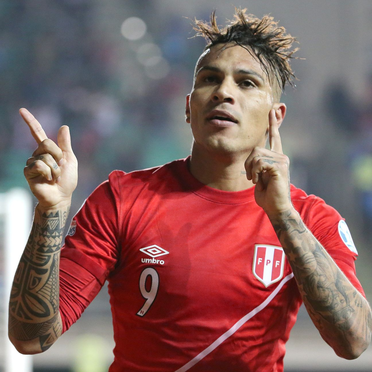 Paolo Guerrero recorded the lone hat trick in the Copa America in Peru's 3-1 quarterfinal win over Bolivia.