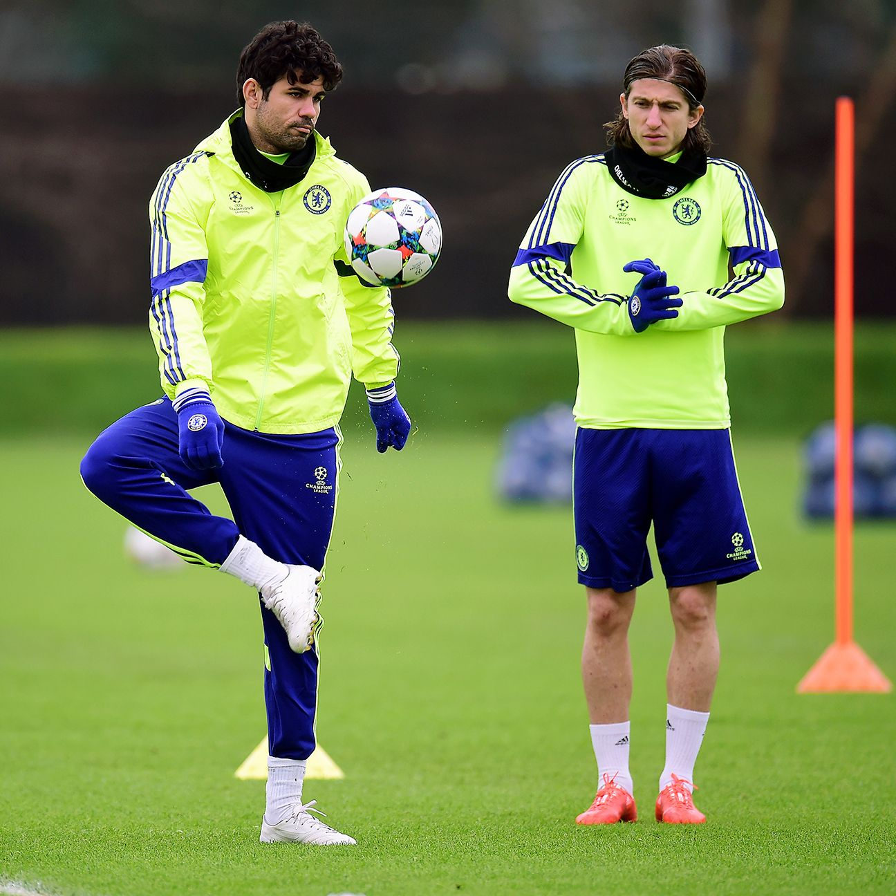 After winning the 2013-14 La Liga title with Atletico Madrid, Diego Costa, left, and Filipe Luis, right, made their way north to Stamford Bridge.